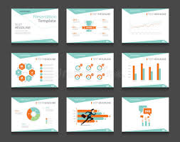 business presentation template flat infographic presentation