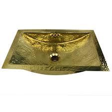 nantucket trb of 20 inch hand hammered brass trough lavatory sink