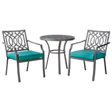 Turquoise Bistro Chair Harper 3 Piece Metal Patio Bistro Set Turquoise Threshold