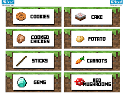 ultimate minecraft party printable food labels mixedstew com