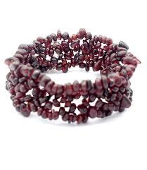garnet gemstone bracelet images Garnet stone chip stretch bracelet february birthstone jpg
