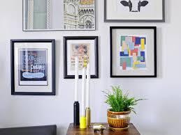 turn paint chips into geometric diy wall art hgtv