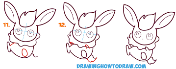 how to draw flareon in cute kawaii chibi baby style from