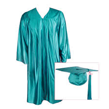 cap gown and tassel teal graduation cap gown and tassel