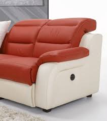 canapé cuir bicolore canapé d angle relax blanc et sofamobili