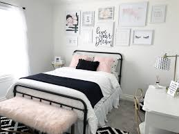 pink and black girls bedroom ideas black and blush pink girls room decor black and white teenage