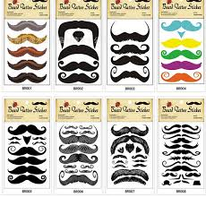 animation mustache tattoo paste party tattoo stickers pussycat