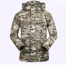 army pattern fleece men winter colorful ski jackets print windproof army tactical camo