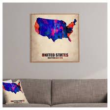naxart usa watercolor map 1 framed wall art deny designs target