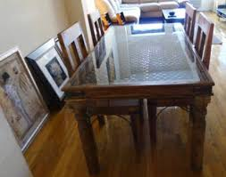 glass top to protect wood table dining room table glass top protector tables sunroom architecture