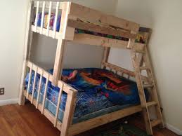 Free Bunk Bed Plans Twin Over Full by Bunk Beds How To Build Bunk Beds Free Bunk Bed With Stairs