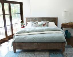 Laminate Bedroom Furniture by Reclaimed Wood Headboard Sofa Bed Wooden Laminated Flooring Shaggy