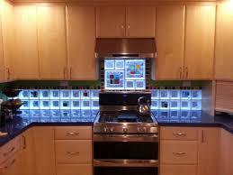 home design brown glass tile backsplash kitchen island grey