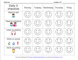 the daily five printables simply centers the daily 5 checklist