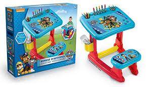 bureau plastique enfant canal toys ct37009 loisir créatif paw patrol bureau d