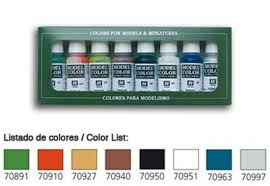 17ml bottle wargames basics model color paint set 8 colors hobby