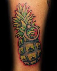60 pineapple tattoo designs for men tropical fruit ideas
