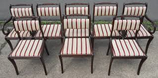 Regency Dining Chairs Mahogany Of Eight Upholstered Regency Style Mahogany Dining Chairs