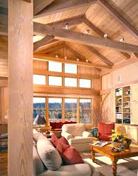 timber frame great room lighting timber frame great room windows let the sunshine in home