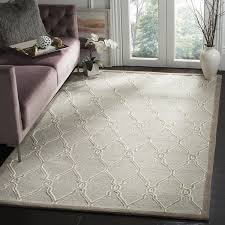 safavieh handmade cambridge light grey ivory wool rug 9 u0027 x 12