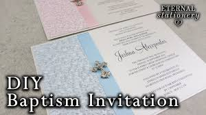 Christening Invitation Card Maker Online Very Easy Diy Embossed Baptism Christening Invitation Diy