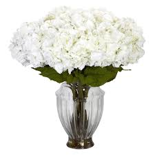 large white hydrangea centerpiece silk flower arrangements
