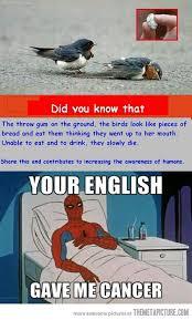 Spiderman Meme Cancer - cancer causing english spiderman memes pinterest memes and meme