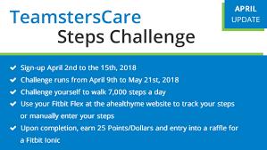 Challenge Steps April Update Teamsterscare Steps Challenge Teamsterscare 25