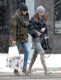 meghan markle toronto meghan markle wears chic fur coat and beanie while shopping in snowy