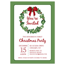 Christmas Invitation Cards Template Template Classic Christmas Party Invitation Card Template With