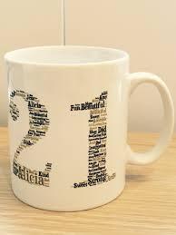 personalised shape word art mugs