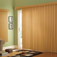 interior yellow vertical blinds for sliding glass door combined
