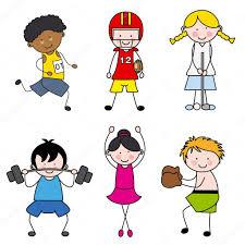 set of vector cartoon sport icons u2014 stock vector sbego 33532019