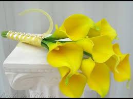 yellow calla yellow calla wedding bouquet