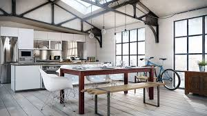 loft kitchen ideas style kitchen dining area in loft kitchen decor lighting