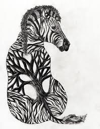 zebra and a tree it s like this artist drew me zebra tree
