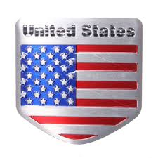 United States American Flag 3d Alloy Metal Us Usa The United States American Flag Sticker Logo