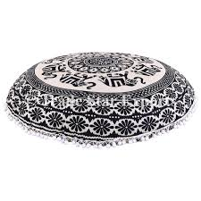 Large Outdoor Floor Pillows by Large Round Mandala Floor Cushions Decorative Elephant Throw