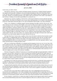 Bill Of Rights Worksheet Answers President Kennedy S Civil Rights Speech Worksheet By Students Of