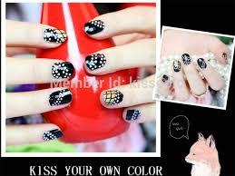 kisscolo silver rhinestones design nail polish strips wholesale 3d