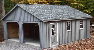 Two Story Shed Plans 24x24 2 Car 2 Story Garage With 7 Pitch Roof Located In New York