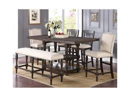 Upholstered Counter Height Bench Winners Only Xcalibur Counter Height Dining Set With Upholstered