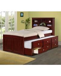 huge deal on twin trundle bed in dark cappuccino green