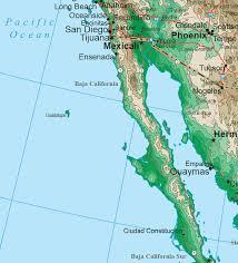 california map in usa southwestern states topo map