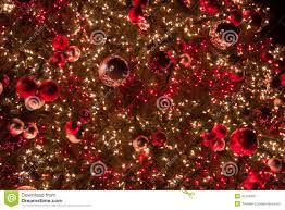 beautiful ornaments and lights stock image image of