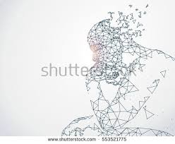 lines connected thinkers symbolizing meaning artificial stock