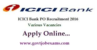 Resume For Icici Bank Po Icici Bank Po Recruitment 2016 Apply Online Icici Po Jobs