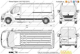 renault master 2015 the blueprints com vector drawing renault master l3h2 fwd