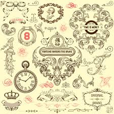 ornamental elements and labels vintage style vector 03 welovesolo