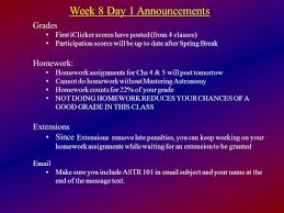 week 8 day 1 announcements ppt download